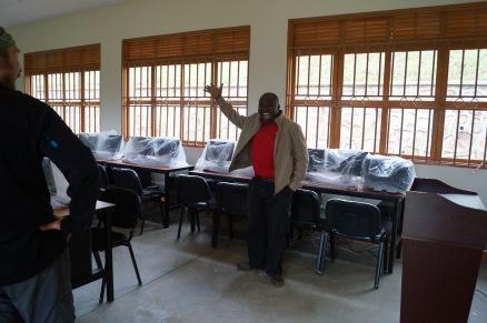 Samuel Mugisha astonished at the changes!