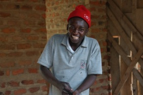 Albert, a former Nyaka student and budding solar electrician!